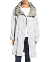 Reversible pleat hood packable travel coat medium 3753481
