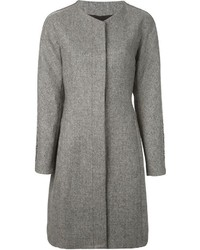 Roberto Cavalli Embellished Sleeve Tweed Coat