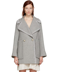 See by Chloe See By Chlo Grey Double Breasted Wool Coat
