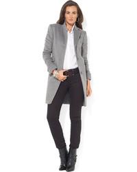 Lauren Ralph Lauren Single Breasted Wool Blend Walker Coat