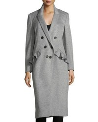 Burberry Slim Double Breasted Wool Blend Coat