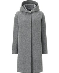 Uniqlo Soft Wool Blend Hooded Coat