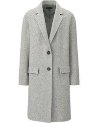 Uniqlo Soft Wool Blend Tailored Coat