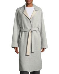Robert Rodriguez Split Sleeve Belted Long Wool Wrap Coat