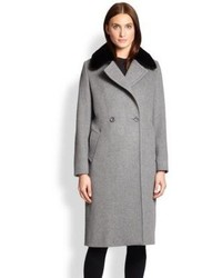 Max Mara Studio Mink Collar Coat