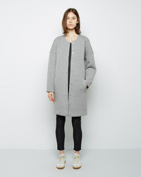 Alexander Wang T By Cotton Neoprene Collarless Coat
