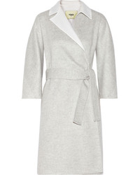 Fendi Two Tone Felted Cashmere Coat