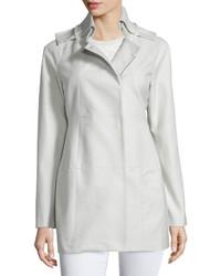 Valentino Long Sleeve Slim Fit Coat Gray