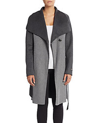 Vera Wang Diane Two Tone Wool Coat