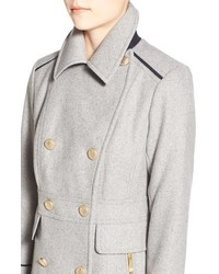 Vince Camuto Wool Blend Double Breasted Officers Coat