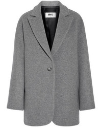 MM6 MAISON MARGIELA Wool Blend Felt Coat Gray