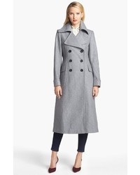 DKNY Wool Blend Military Coat