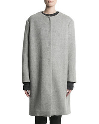 Pink Tartan Wool Rich Cocoon Coat