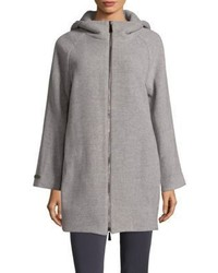 Peserico Zippered Hooded Coat