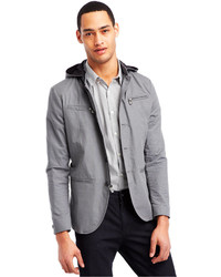 Kenneth Cole Reaction Buttoned Zip Blazer