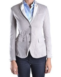 Etiqueta Negra Grey Cotton Blazer