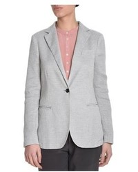 Eleventy Grey Cotton Blazer