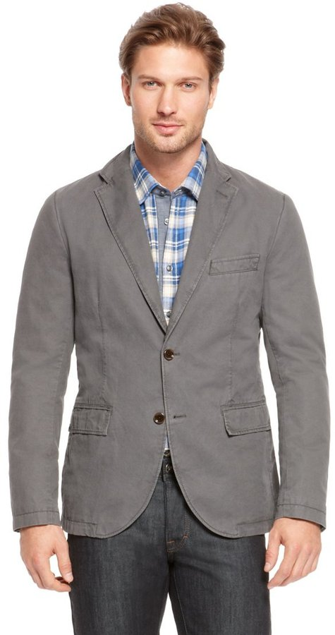 Hugo Boss Benefit W Slim Fit Cotton Sport Coat Dark Grey | Where ...
