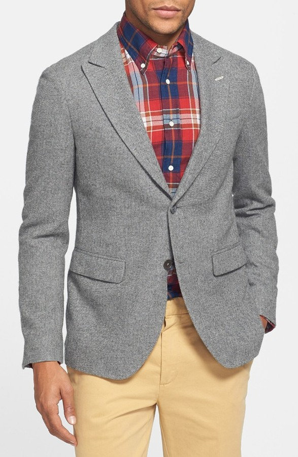 d1a3432a6 $575, Gant Rugger Trim Fit Herringbone Blazer