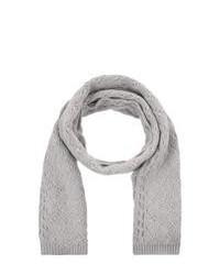 Johnstons cashmere scarf grey medium 110143