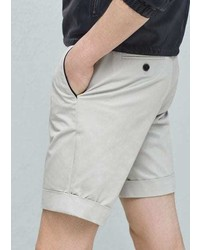 Mango Outlet Cotton Pleated Bermuda Shorts
