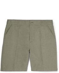A.P.C. Lawrence Slim Fit Cotton And Linen Blend Twill Shorts