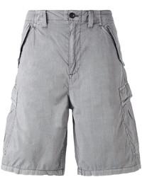 Armani Jeans Logo Patch Cargo Shorts