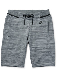 Nike Mlange Tech Knit Cotton Blend Shorts