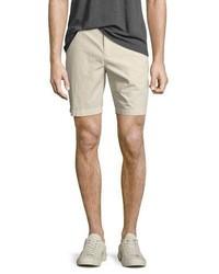 Burberry Tailored Cotton Chino Shorts Stone