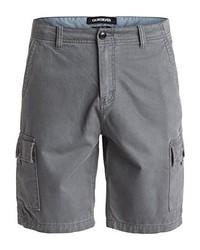 Grey Cotton Shorts