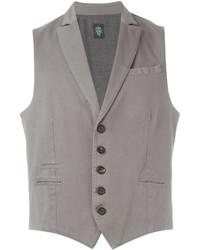 Grey Cotton Waistcoat