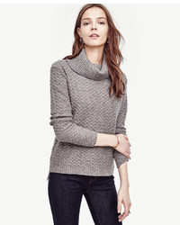 Ann Taylor Petite Cashmere Cowl Neck Sweater