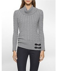 Calvin Klein Cable Knit Cowl Neck Sweater