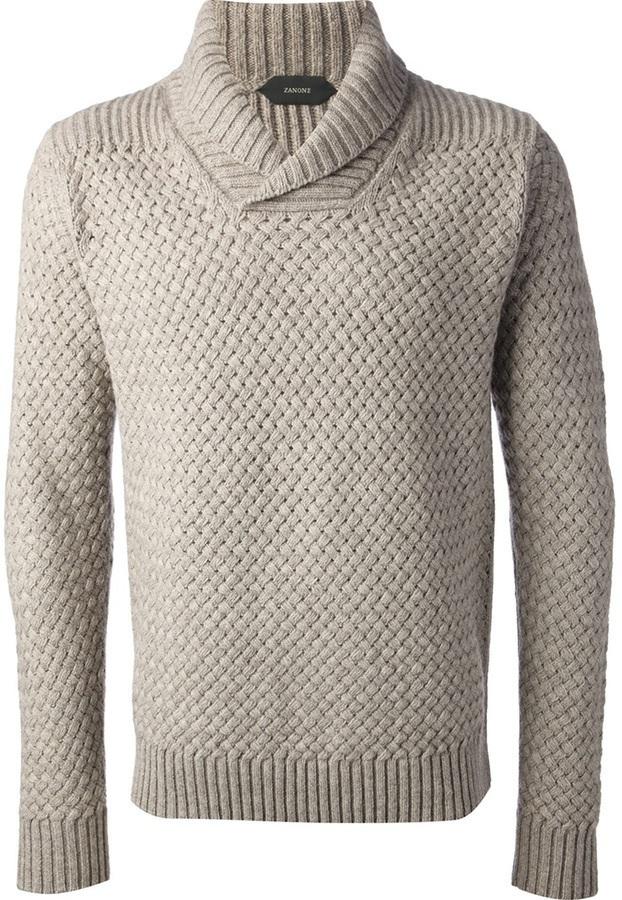 Zanone Cowl Neck Sweater