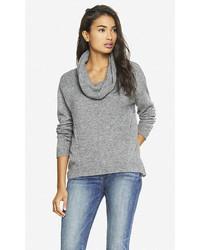 Express Oversized Cowl Neck Slanted Seam Sweater