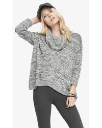 Express Oversized Marled Cowl Neck Sweater