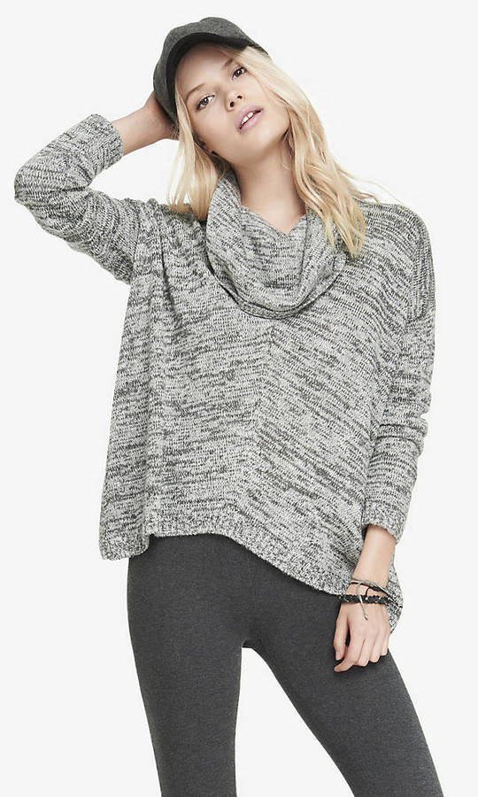 Express Oversized Marled Cowl Neck Sweater | Where to buy & how to ...