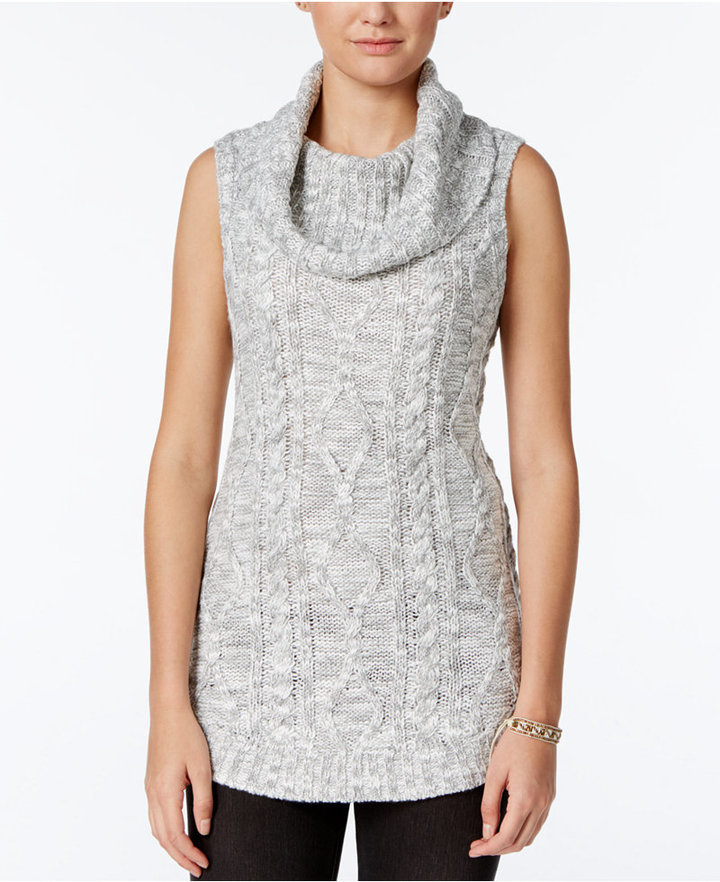 Freshman Juniors Sleeveless Cowl Neck Tunic Sweater | Where to buy ...