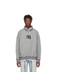 Fear Of God Grey Mock Neck Fg Sweatshirt