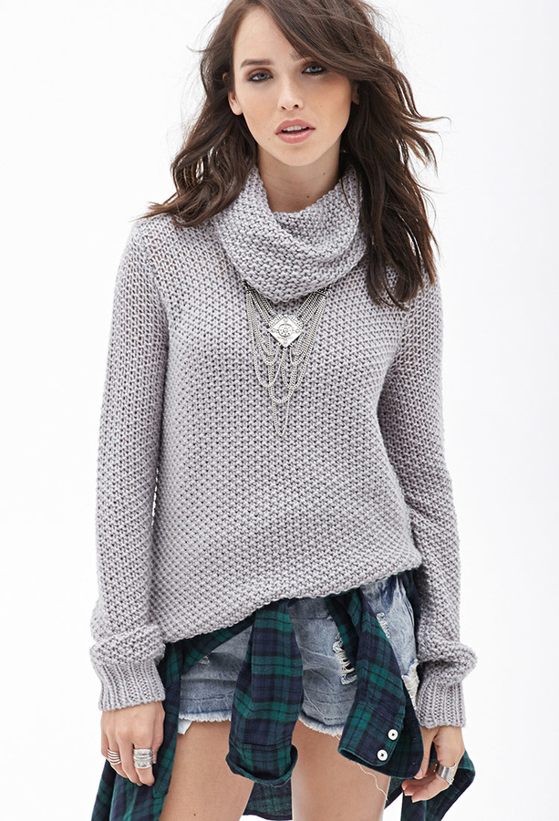Forever 21 Open Knit Cowl Neck Sweater | Where to buy & how to wear