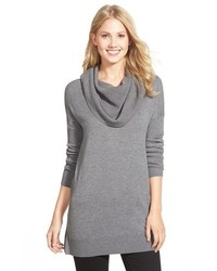 Petite caslon side slit cowl neck tunic medium 390211