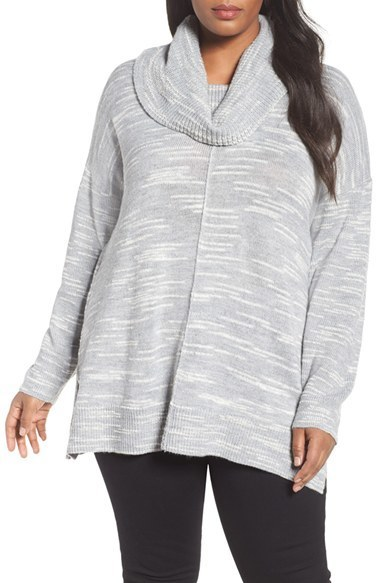 Plus Size Caslon Cowl Neck Tunic Sweater | Where to buy & how to wear