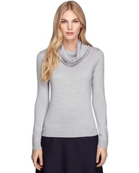 Brooks Brothers Saxxon Wool Cowl Neck Sweater