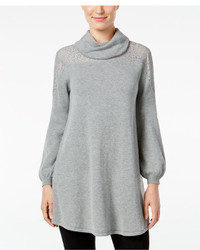 Style&co. Style Co Cowl Neck Lace Yoke Sweater Only At Macys