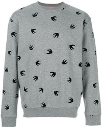 Alexander ueen flocked swallow sweatshirt medium 3947757