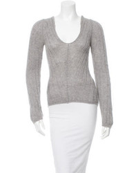 Prada Cashmere Scoop Neck Sweater