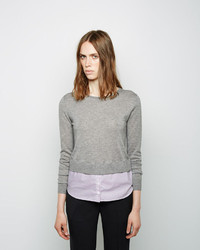 Band Of Outsiders Cashmere Shirttail Pullover