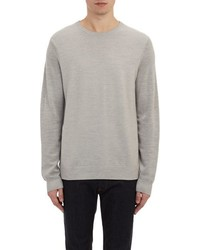 Vince Compact Garter Rib Stitch Sweater Grey Size Xl
