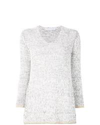 Contrast trim sweater medium 8265530