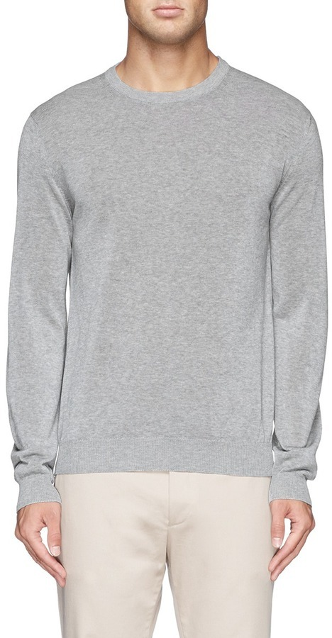 Incotex Crew Neck Cotton Sweater | Where to buy & how to wear